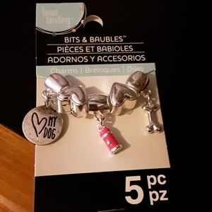 Jewelry - Nwt Silver plated 5 PC doggy charm set